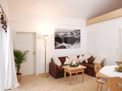 Photo for Cozy, sunny and newly renovated apartment with view of the Zugspitze - 4 stars
