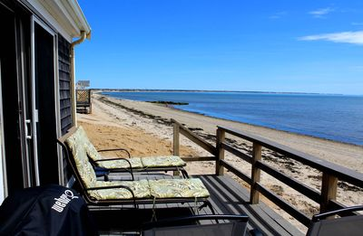 Photo for 2BD Beach Point Waterfront--Step from the Deck into the Sand of Cape Cod Bay
