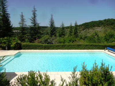 Photo for Gîtes 'Coeur de Lot' luxury, absolute calm, private swimming pool and woods, view, nature ...
