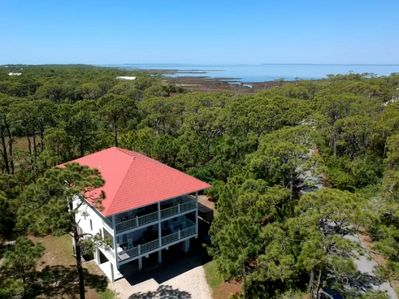 Bay View Home with a Pool! Beach access nearby!