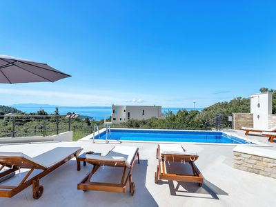 Photo for NEW OPENING! House with pool, terrace with sea view, barbecue, 3 bedrooms