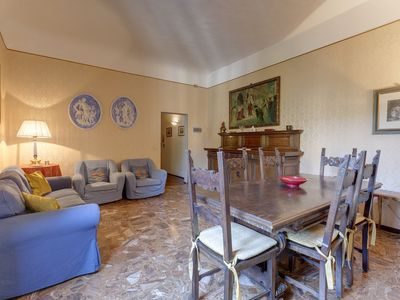 Photo for Fresco Painting apartment in Fortezza da Basso with WiFi, air conditioning & private terrace.