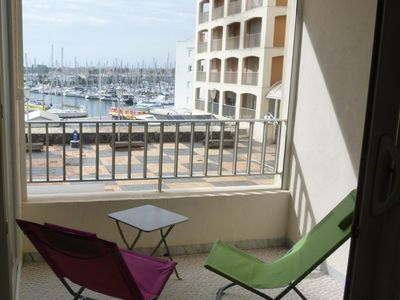 Photo for pretty apartment 2 rooms, sunny, beautiful view of the marina