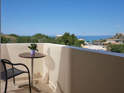 Photo for Plaka Beach - Triple Ground Floor Room Garden View