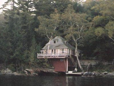 View of cottage from the lake.