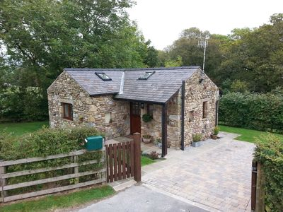 Photo for Charming Detached Completely Private Stone Built Open Plan Cosy Retreat For 2