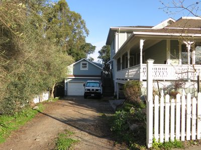 off street parking, private entrance to cottage on left