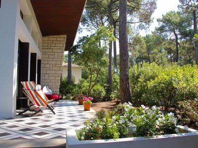 Photo for B41 - In a large garden, this house and its charming cabanas should bring you peace and quiet.