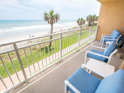 Photo for Beachfront Vacation Rental, Beautiful view from the 2nd story balcony.