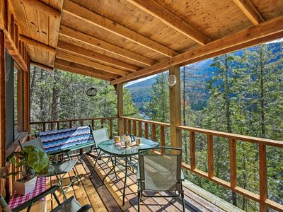 Photo for NEW! 'Yaak River Hideaway' - Private Cabin w/Views
