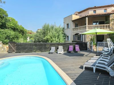 Photo for Mediterranean home with private pool and summer kitchen, 800m from the beach