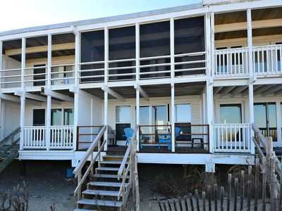 Photo for LINENS INCLUDED*! DEWEY OCEANFRONT SCREENED PORCH AND DECK.,