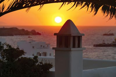 Your sunset view from the villa