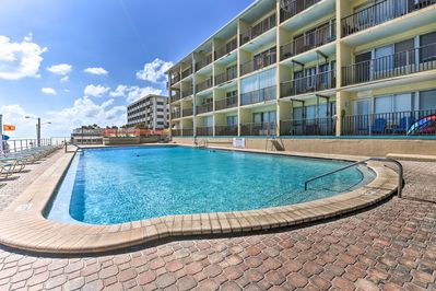 Dip in the cool waters of the community pool just steps from Daytona Beach!