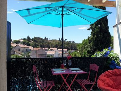 Photo for 5 minutes from the beach with sunny terrace and sea view green and quiet