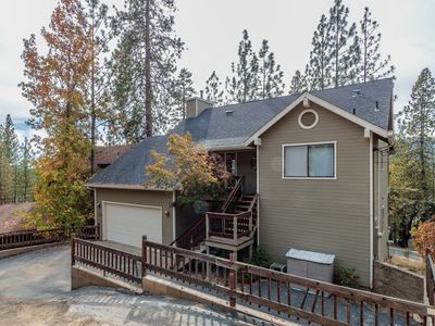 Photo for Beautiful home with view of Bass Lake accommodates 12, boat slip at Marina dock