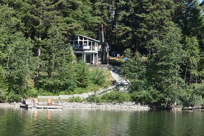 View of the house from the lake