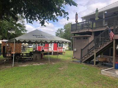 Photo for Camp Paradise Pecan Island- Red Cabin Only