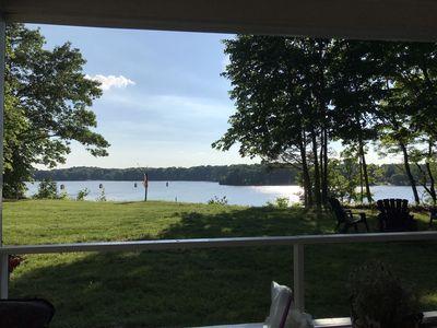 Photo for Quiet 2 acre getaway positioned on beautiful Lake Chapin - Close to Notre Dame!