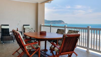 Photo for Beachfront 10th fl penthouse with fantastic views, balcony with grill, access to Croc's Resort pools