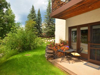 Photo for Beautiful Ground Floor Unit with Private Patio The Best Location in Beaver Creek