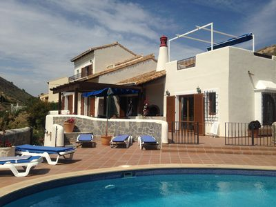 Photo for Individual 3 bed villa with private pool, air-con, broadband & stunning views.