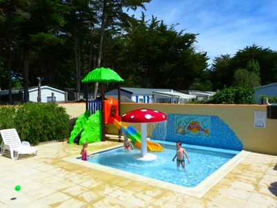 Photo for Family holiday in standard rental mobile home in Ile d'Oléron with heated pool