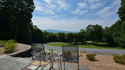 View from the Patio in the front of the house