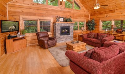 Spacious living areas for  your group to spread out in..