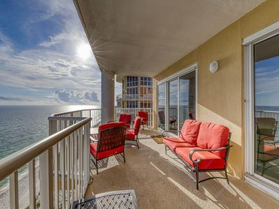 Photo for Penthouse-level, waterfront condo w/ a private balcony, shared pools, & gym