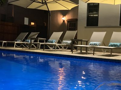 Relax by the pool & have an evening swim