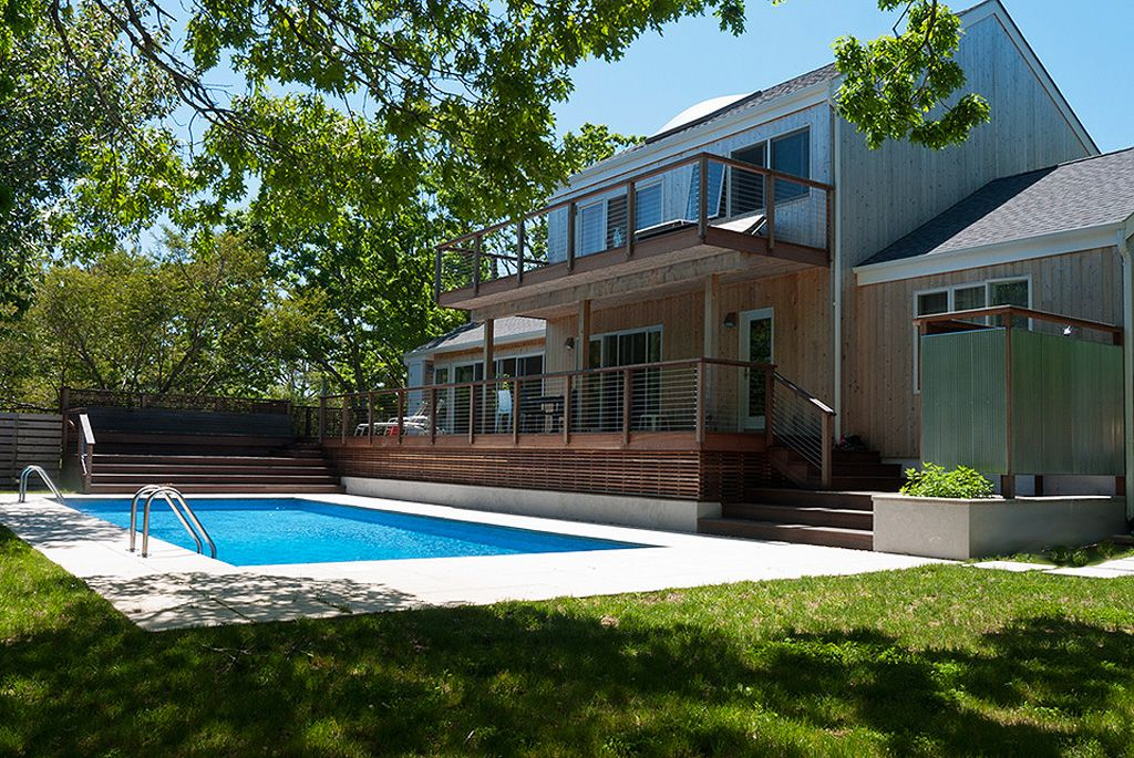 Architect Renovated Secluded Contemporary HomeAway Montauk - And architectural cottages on secluded private pond homeaway