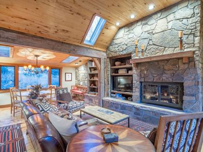 Photo for Lovely log cabin home with hot tub, sweeping views and private master suite. True mountain luxury.