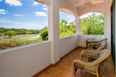 Private balcony and view from master bedroom