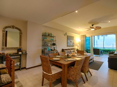 Photo for Stay at this two bedroom nice condo right at the heart of Bucerías, on the Beach