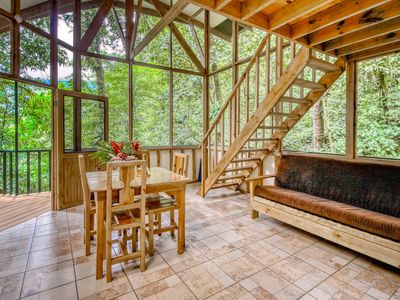 Photo for Quaint, three-level treehouse w/incredible views of nature and wild animals!