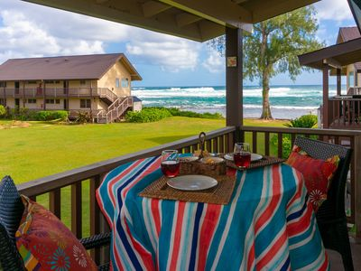 Photo for Steps to the sand, beachfront Hanalei Colony in Haena,private and romantic