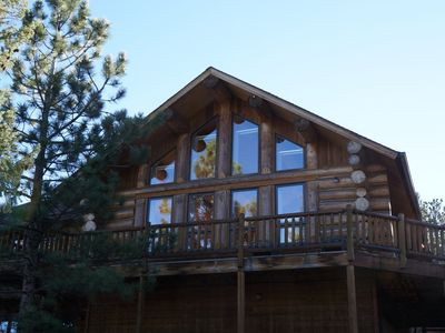 Photo for Private Mountain Retreat, Open floor plan; 1+ Acres, Fantastic Views, Hot Tub!