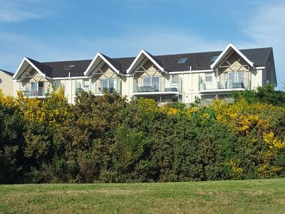 Photo for Apartment with balcony overlooking golf course, Moray Firth, mountains and hills
