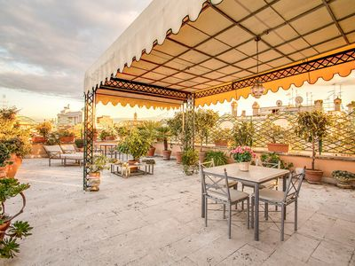 "Photo for Stunning Terrace overlooking the ""vittoriano "" and Piazza Vanezia, in an exclusive totally renovated"