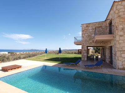 Photo for A stone villa with private pool and panoramic sea view