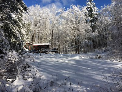 After a snowfall... cottage is 6 miles from Mohawk Mtn. Ski Area!