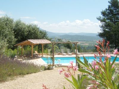 Photo for Beautifully situated villa with breathtaking views, flowerful garden