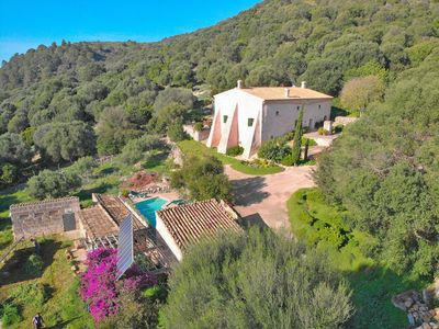 Photo for Rustic Finca with views and pool Ca Na Bassera 066