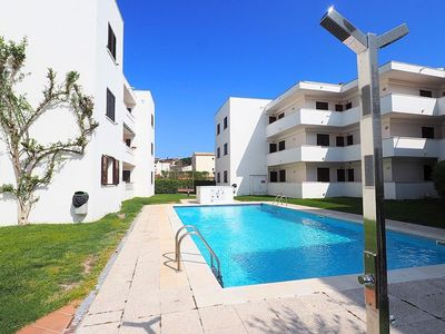 Photo for Apartment with communal swiming-pool and tennis 150 meters of Montgó beach with private p
