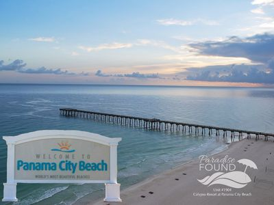 Welcome to the World's Most Beautiful Beaches and the pier view from our balcony