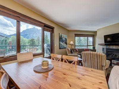 Photo for Canmore Immaculate Corner Unit - Panoramic Mountain Views - Central Location