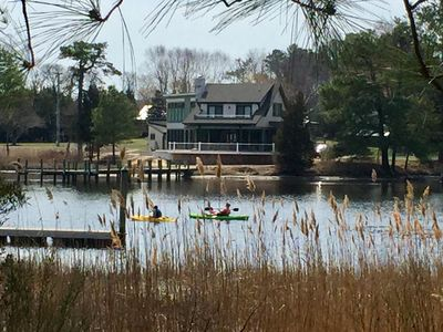 Photo for Waterfront Tranquil Escape-Single Family/Gated Community/Pool/Tennis Courts
