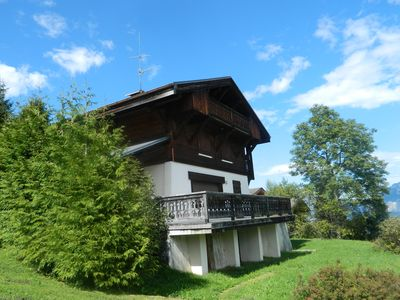 Photo for Grand Family chalet with stunning views of the Mont Blanc range