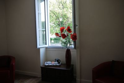 """Master bedroom view over """"The English Park"""""""
